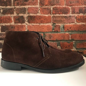 UGG MEN'S BROWN SUEDE DESERT/CHUKKA SHOES